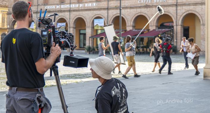 Sul set del film Tutto Liscio Santarcangelo