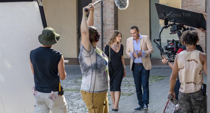 Troupe cinematografica action fotografo di scena Andrea Tosi