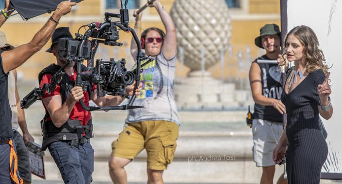 troupe in azione set film Tutto Liscio fotografo di scana Andrea Tosi