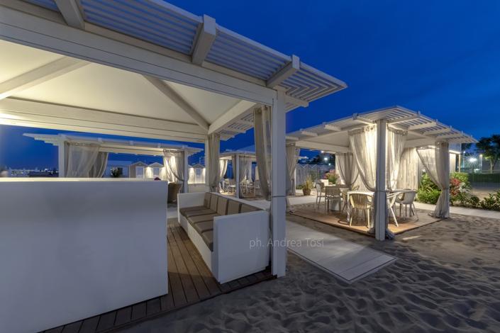 Night spiaggia adriatico