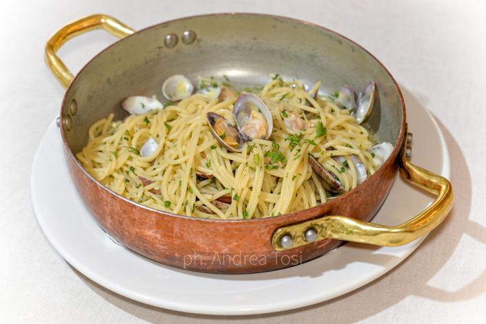 tegamino pasta pesce telline