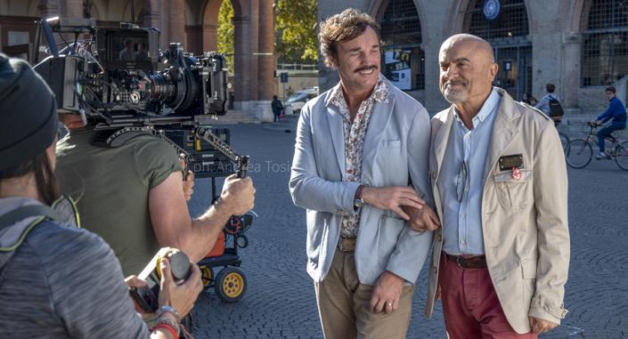 Piazza Cavour Rimini scena film Andrea Tosi fotografo scena